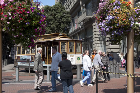 Cable Car Turn-around at Market & Powell Streets