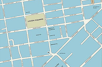 Union Square and San Francisco Maps.