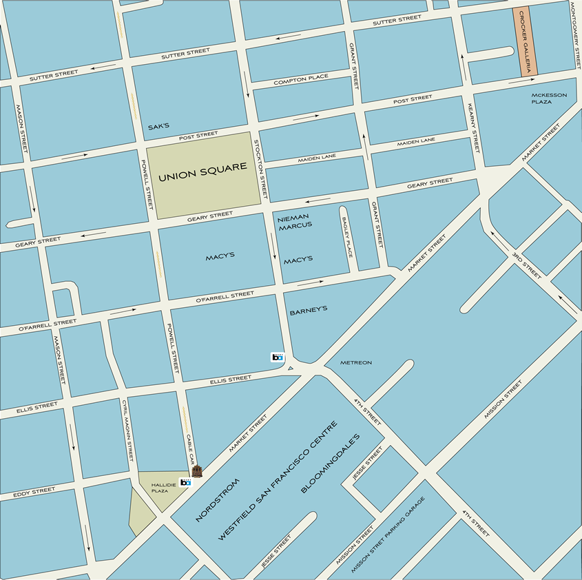 Map Of Union Square To View Or Print Shopping Dining