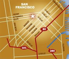 map to ellis ofarrell garage in union square
