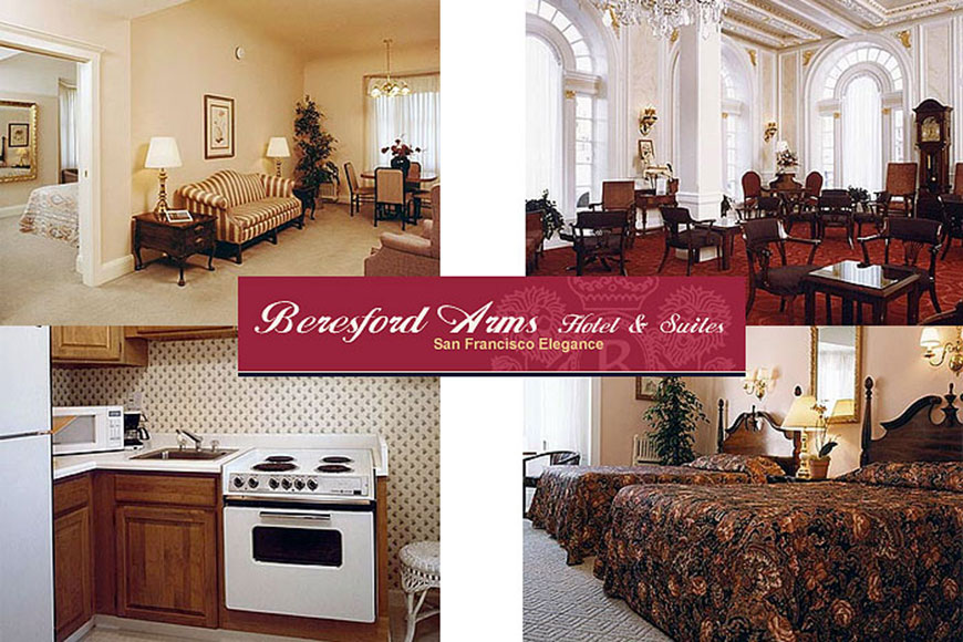 beresford arms hotel in the union square shopping district. Black Bedroom Furniture Sets. Home Design Ideas