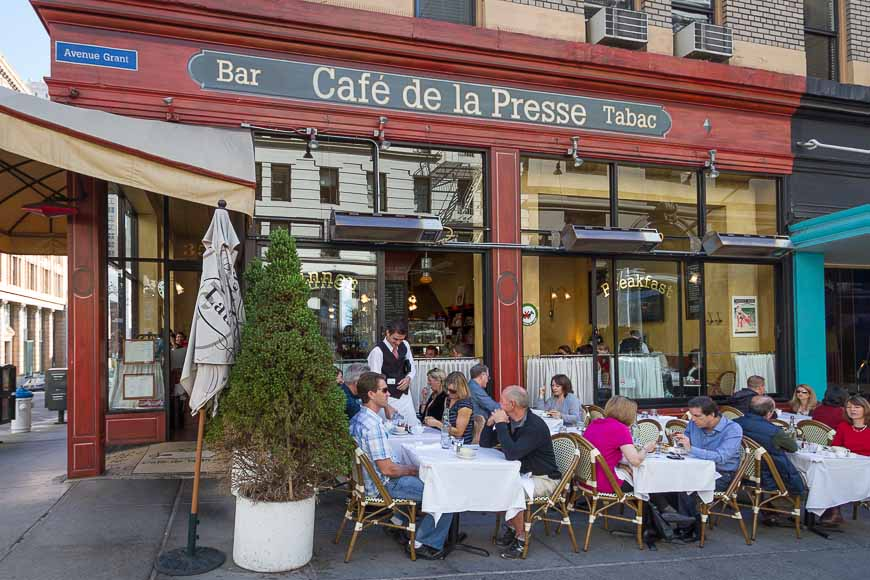 Caf 233 De La Presse French Restaurant Breakfast Lunch