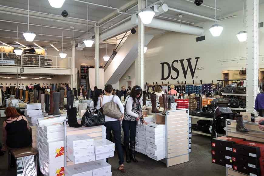 nearest dsw shoes store